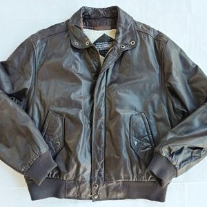 MEMBERS ONLY faux shearling leather jacket Sz 42